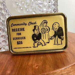 Handmade Monopoly Card Wedding Belt Buckle